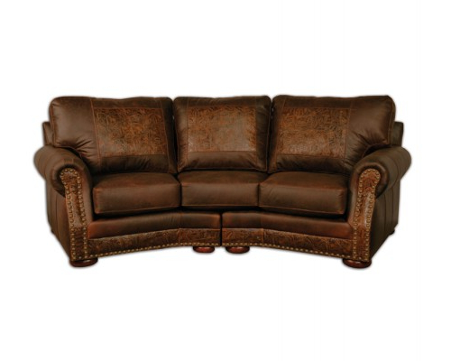 Cameron Sofa Chairs Intended For 2018 Cameron Ranch Holster Curved Sofa (View 14 of 20)