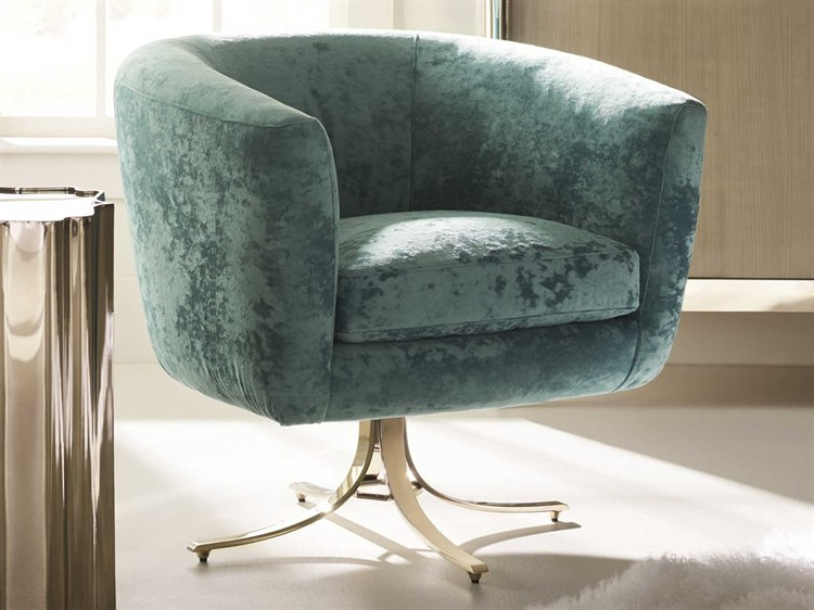 Caracole Classic Twirl Around Turquoise / Whisper Of Gold Accent Intended For Famous Twirl Swivel Accent Chairs (View 4 of 20)