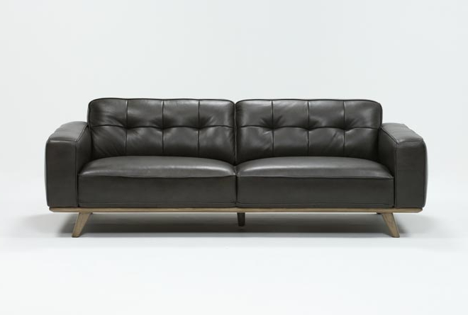 Caressa Leather Dove Grey Sofa Chairs In Preferred Caressa Leather Dark Grey Sofa (View 5 of 20)
