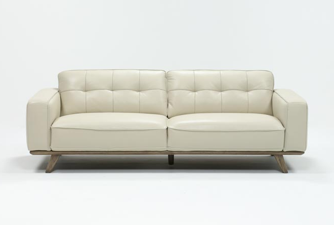 Featured Photo of Caressa Leather Dove Grey Sofa Chairs