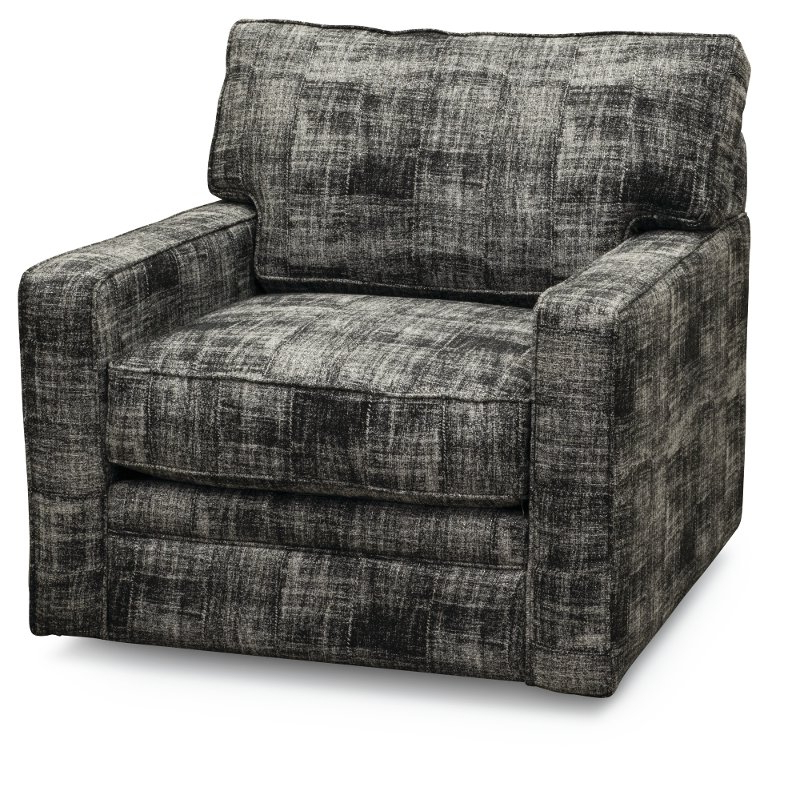 Casual Contemporary Luxe Dark Gray Swivel Chair – Juno (View 2 of 20)