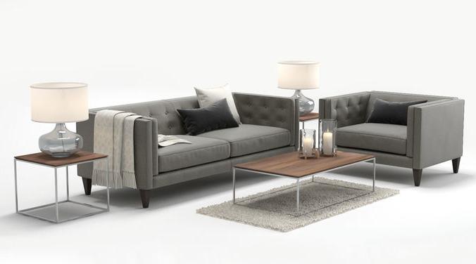 Cgtrader Inside Aidan Ii Sofa Chairs (View 8 of 20)