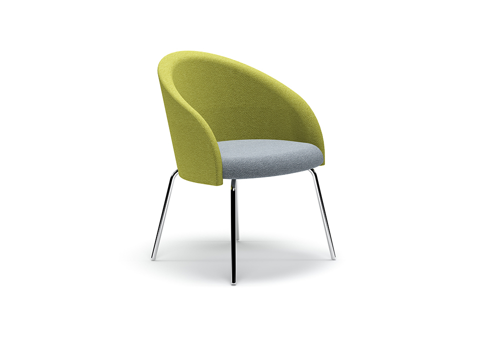 Chill Swivel Chairs With Metal Base Within Most Up To Date Chill – Boss Design (View 13 of 20)