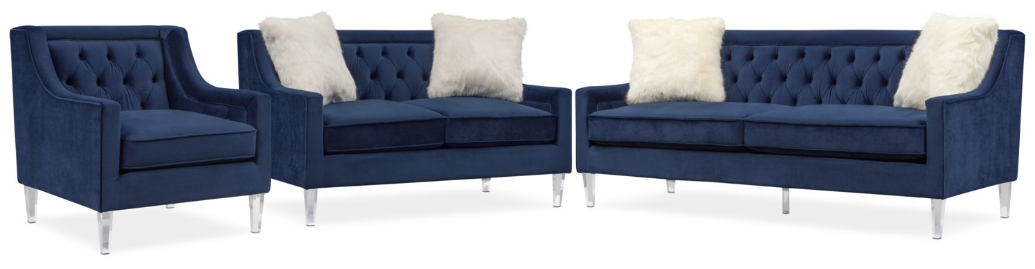 Chloe Sofa, Loveseat And Chair Set (View 3 of 20)