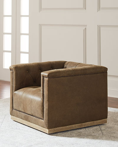 Chocolate Brown Leather Tufted Swivel Chairs Pertaining To Recent Handcrafted Top Grain Leather Furniture (View 15 of 20)