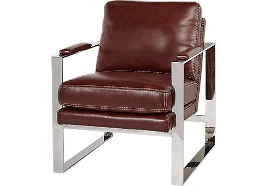 Cindy Crawford Home Preston Ridge Tobacco Leather Chair. $ (View 12 of 20)