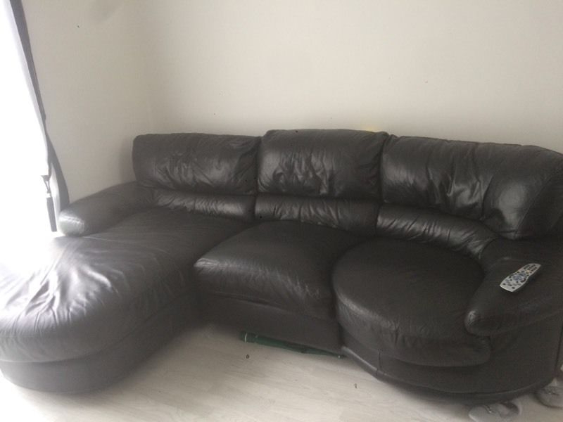 Corner Sofa And Swivel Chairs In Most Up To Date Black Leather Corner Sofa Swivel Chair On End (View 7 of 20)