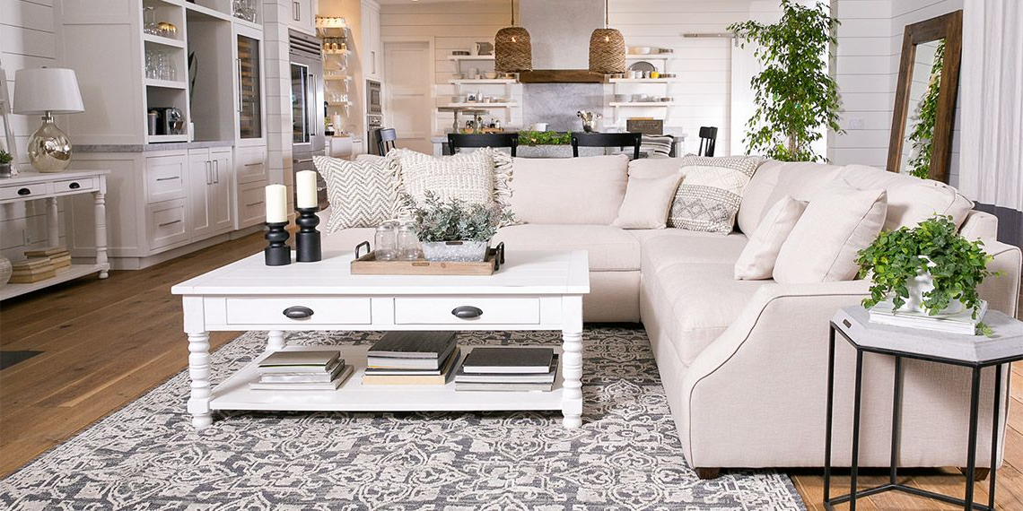 Country/rustic Living Room With Magnolia Home Homestead Sofa Pertaining To Current Magnolia Home Homestead Sofa Chairs By Joanna Gaines (View 2 of 20)