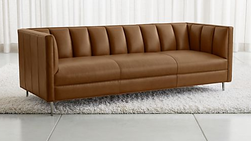 Crate And Barrel Regarding Gina Grey Leather Sofa Chairs (View 8 of 20)