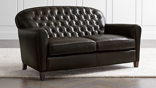 Crate And Barrel With Regard To Gina Grey Leather Sofa Chairs (View 15 of 20)