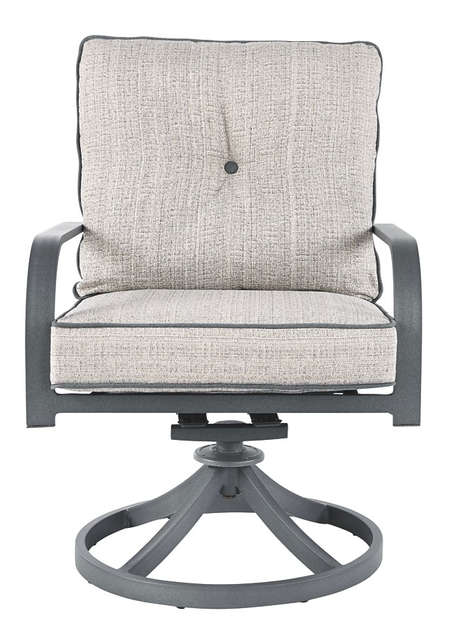 Current Dark Grey Swivel Chairs Pertaining To Donnalee Bay – Dark Gray – Swivel Lounge Chair (2/cn) (View 10 of 20)