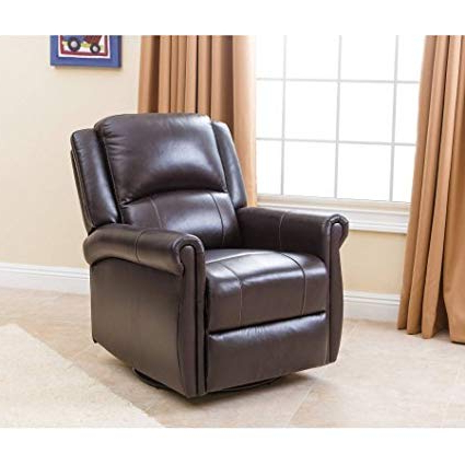 Current Devon Ii Swivel Accent Chairs For Amazon: Devon & Claire Sophie Dark Brown Nursery Swivel Glider (View 7 of 20)