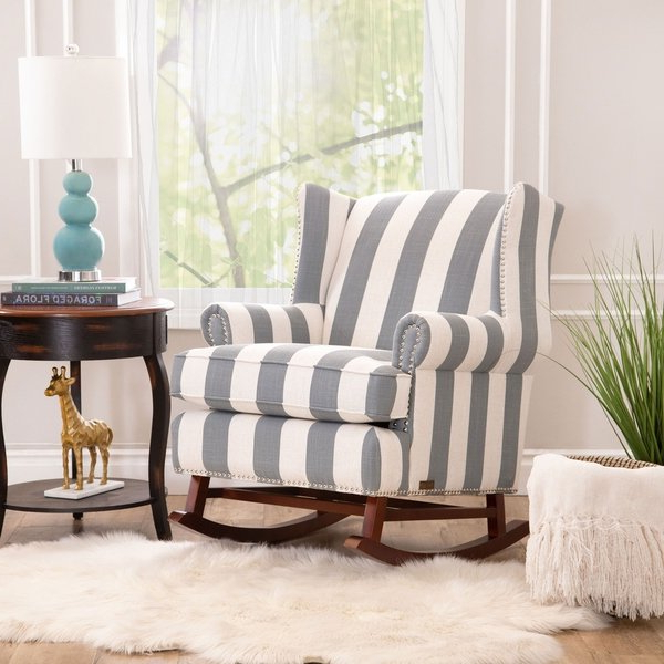 Current Katrina Beige Swivel Glider Chairs Within Shop Abbyson Radcliffe Two Tone Fabric Rocker Chair – On Sale – Free (View 20 of 20)