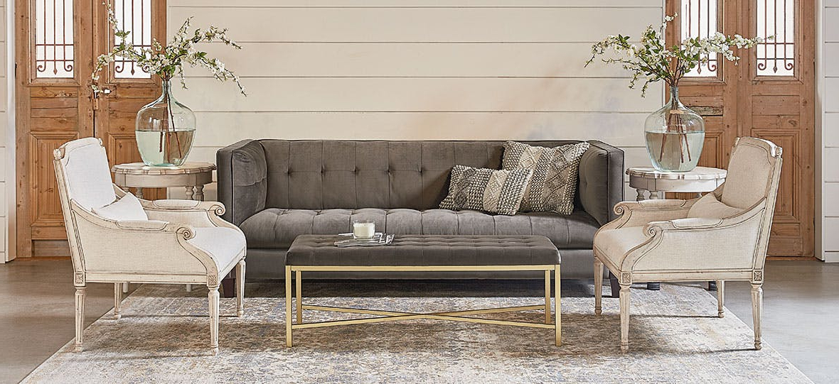 Current Magnolia Homejoanna Gaines With Magnolia Home Ravel Linen Sofa Chairs (View 3 of 20)