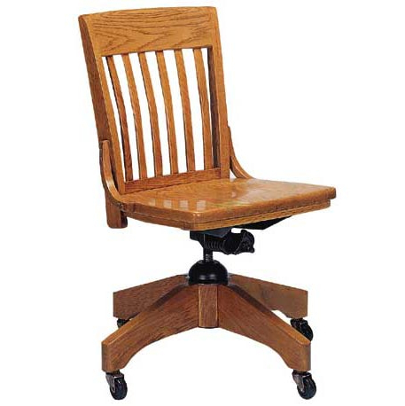 Current Outdoor Koro Swivel Chairs Inside Americana Solid Oak Swivel Chair W/o Arms (View 16 of 20)