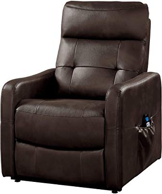 Dale Iii Polyurethane Swivel Glider Recliners Regarding Fashionable Amazon: Great Deal Furniture Merit Brown Pu Leather Glider (View 19 of 20)