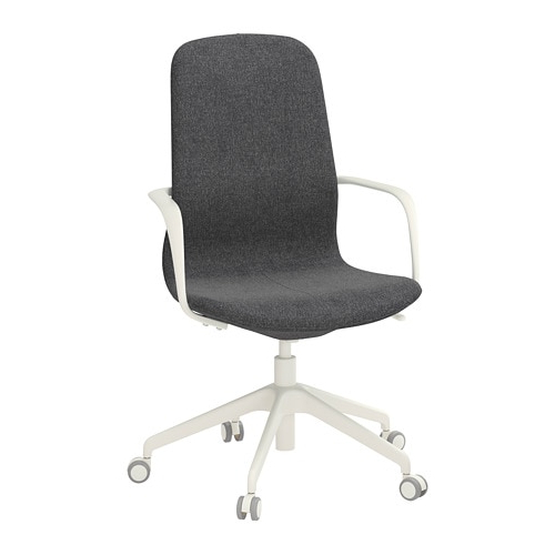Dark Grey Swivel Chairs Inside Most Recently Released Långfjäll Swivel Chair Gunnared Dark Grey/white – Ikea (Gallery 3 of 20)