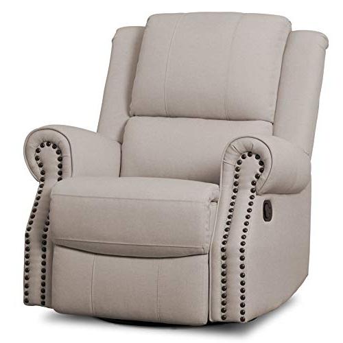 Decker Ii Fabric Swivel Rocker Recliners Regarding Newest Swivel Recliner Chairs: Amazon (Gallery 14 of 20)