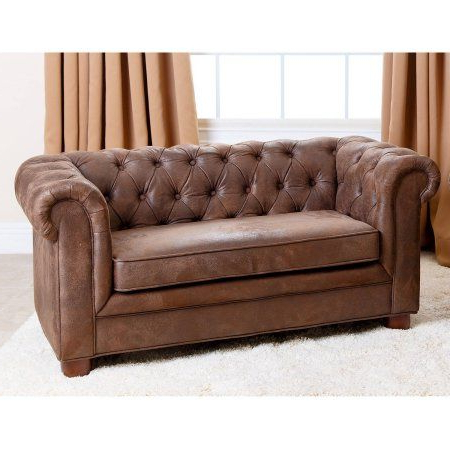 Devon & Claire Antique Brown Velvet Winchester Kid's Mini Sofa Inside Fashionable Devon Ii Arm Sofa Chairs (View 5 of 20)