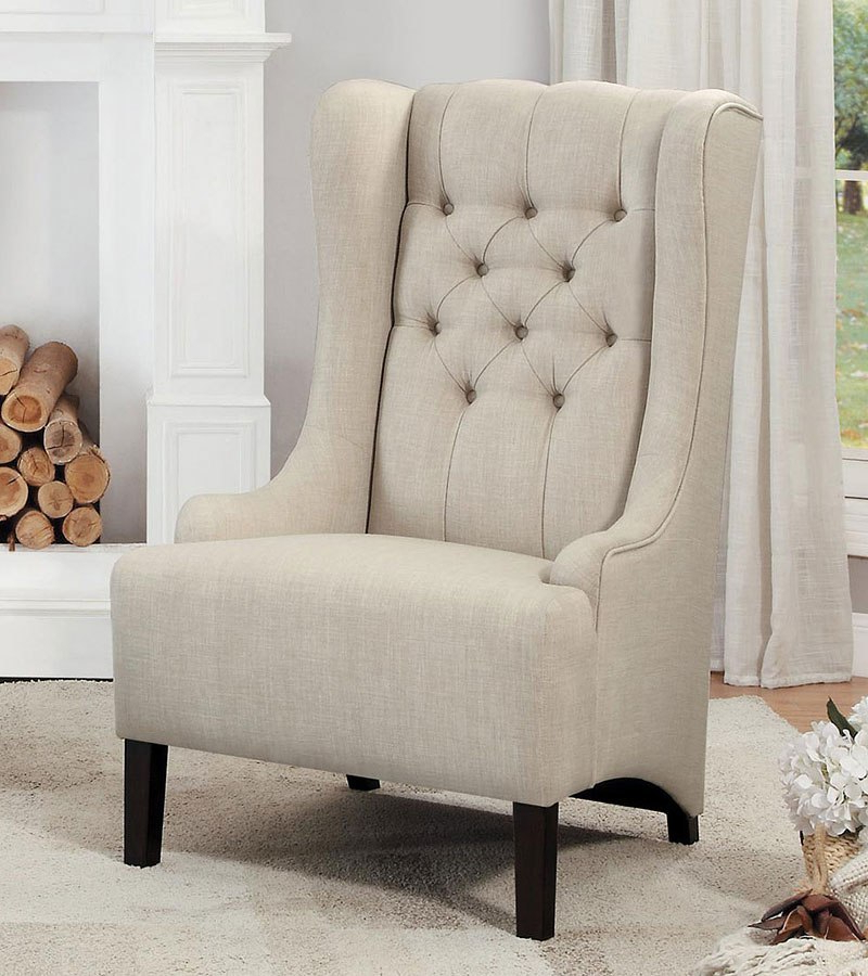Devon Ii Swivel Accent Chairs Intended For Famous Devon Beige Accent Chair – Living Room Furniture – Living (Gallery 13 of 20)