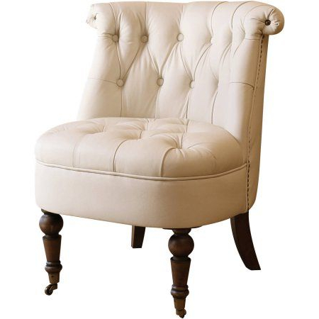 Devon Ii Swivel Accent Chairs Intended For Most Recently Released Devon & Claire Jasper King Ivory Leather Barrel Chair, Multicolor (View 17 of 20)