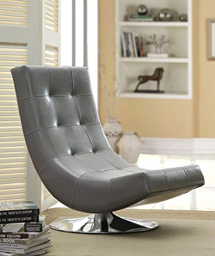 Devon Ii Swivel Accent Chairs With Best And Newest Amazon: Furniture Of America Dresden Leatherette Swivel Armless (Gallery 16 of 20)