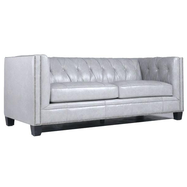 Dove Grey Leather Sofa – Hotelessemanasanta Pertaining To Popular Caressa Leather Dove Grey Sofa Chairs (View 10 of 20)