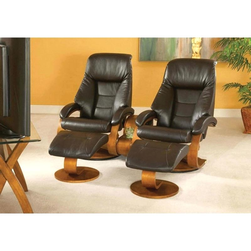 Espresso Leather Swivel Chairs Inside Well Known Mac Motion Double Swivel Recliner With Ooman And Theater Table In (View 1 of 20)