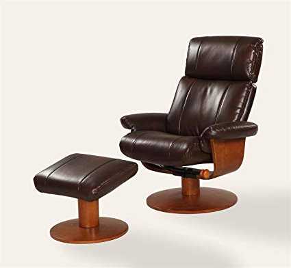 Espresso Leather Swivel Chairs With Most Up To Date Amazon: Oslo Collection Nora 812 103 Air Massage Bonded Leather (View 5 of 20)