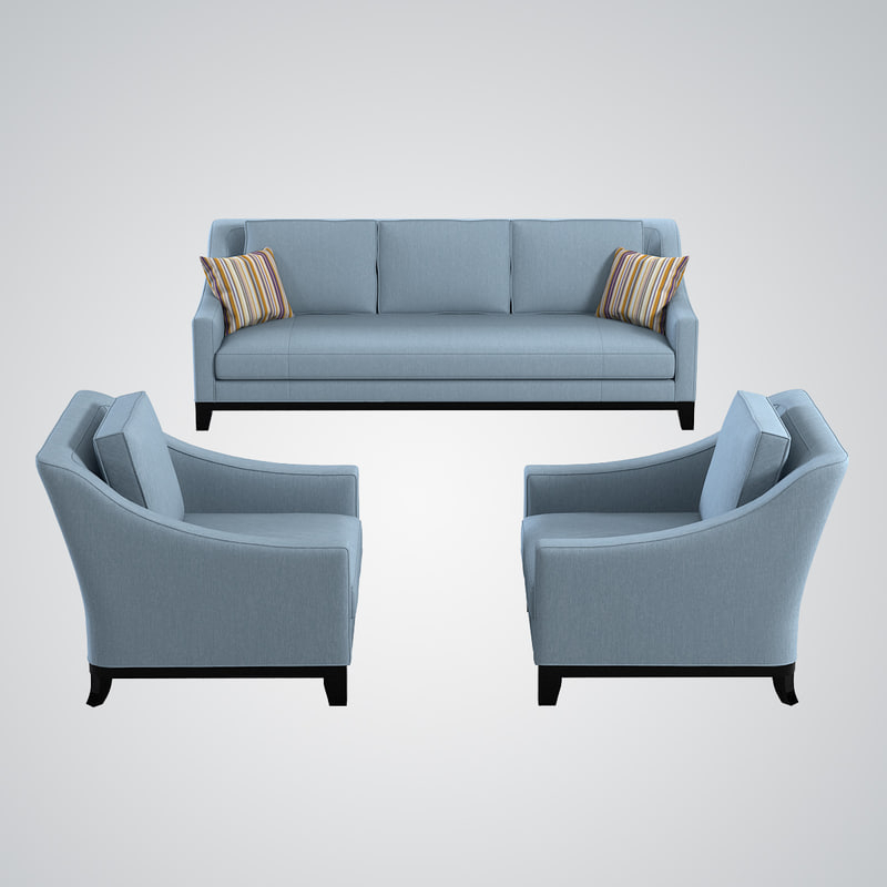Famous 3D Model Baker Neue Sofa Chair Throughout Sofa And Chair Set (View 8 of 20)