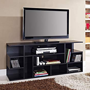 "Famous Abbot 60 Inch Tv Stands For Amazon: We Furniture 60"" Black Wood Tv Stand Console: Kitchen (View 8 of 20)"