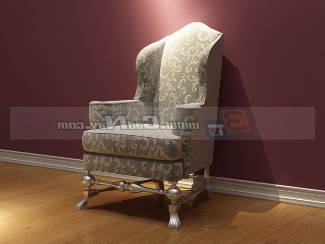 Famous Antique Sofa Chairs In Vintage French Fabric Sofa Chair 3D Model 3Dmax Files Free Download (View 10 of 20)