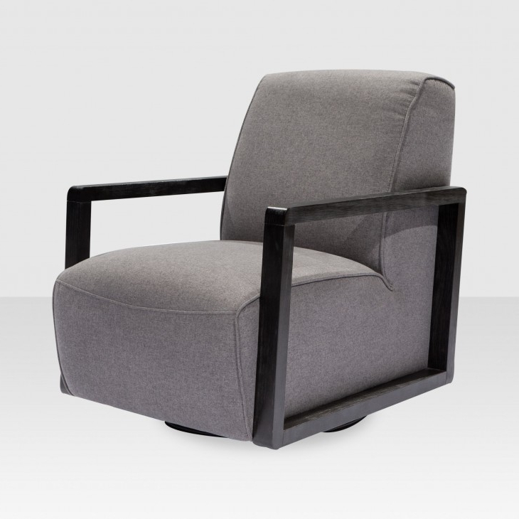 Famous Charcoal Swivel Chairs Inside Posy Swivel Chair In Charcoal – Elte Market (View 7 of 20)