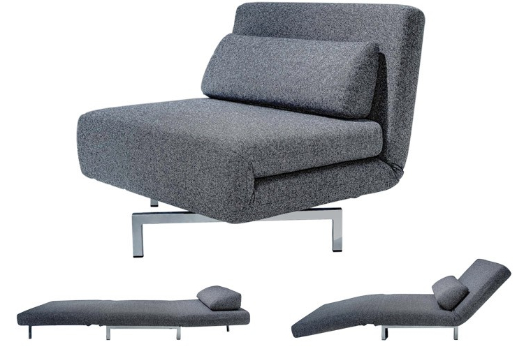 Famous Convertible Sofa Chair Bed For Modern Grey Futon Chair (View 7 of 20)