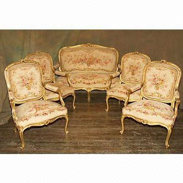 Famous French Royal Court Embroidered Sofa And Chair Covers With One Throughout Sofa And Chair Covers (View 2 of 20)