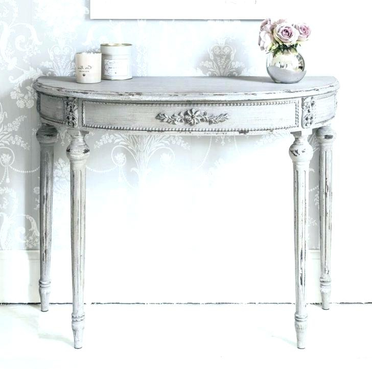 Famous White Distressed Console Table Distressed White Sofa Table Medium Inside Antique White Distressed Console Tables (View 5 of 20)