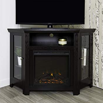 "Fashionable Amazon: We Furniture 48"" Corner Tv Stand Fireplace Console Pertaining To 50 Inch Fireplace Tv Stands (View 18 of 20)"