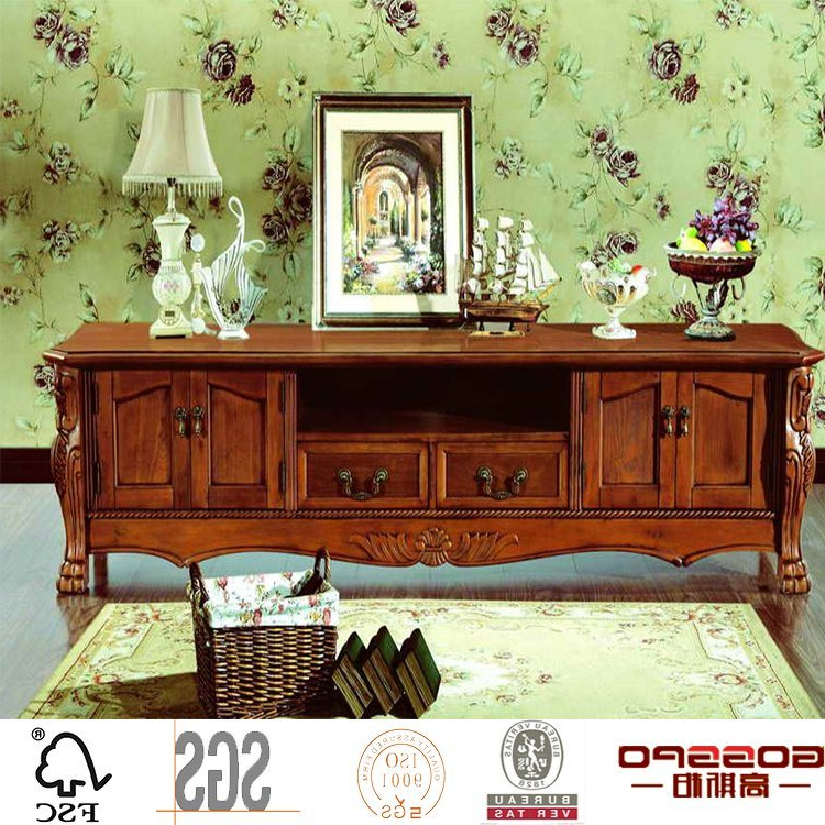 Fashionable Antique Style Tv Stands For China French Style Glass Solid Oak Tv Stand Antique Style Tv Unit (View 10 of 20)