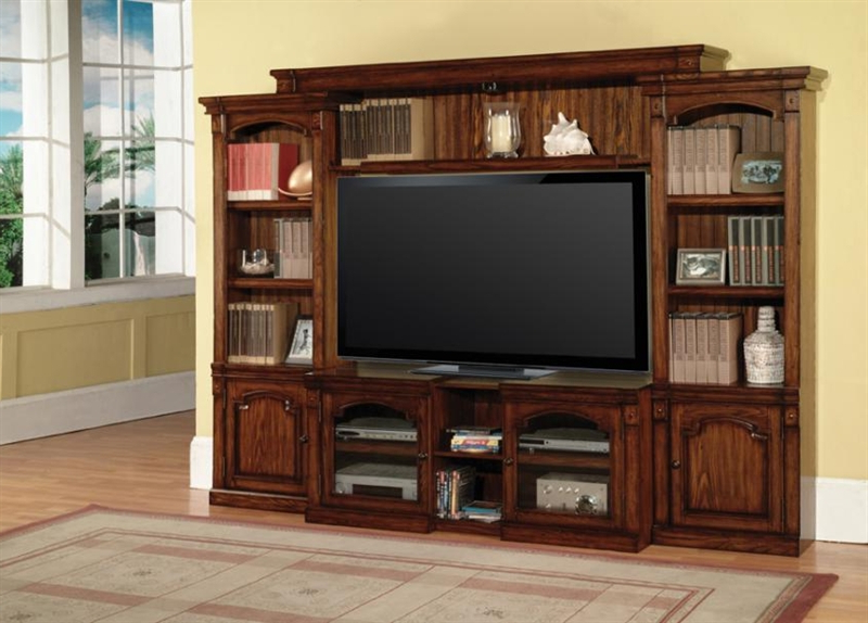 Fashionable Aspen 43 60 Inch Tv 4 Piece Expendable Premier Wall Unit In Antique Within 60 Inch Tv Wall Units (View 9 of 20)
