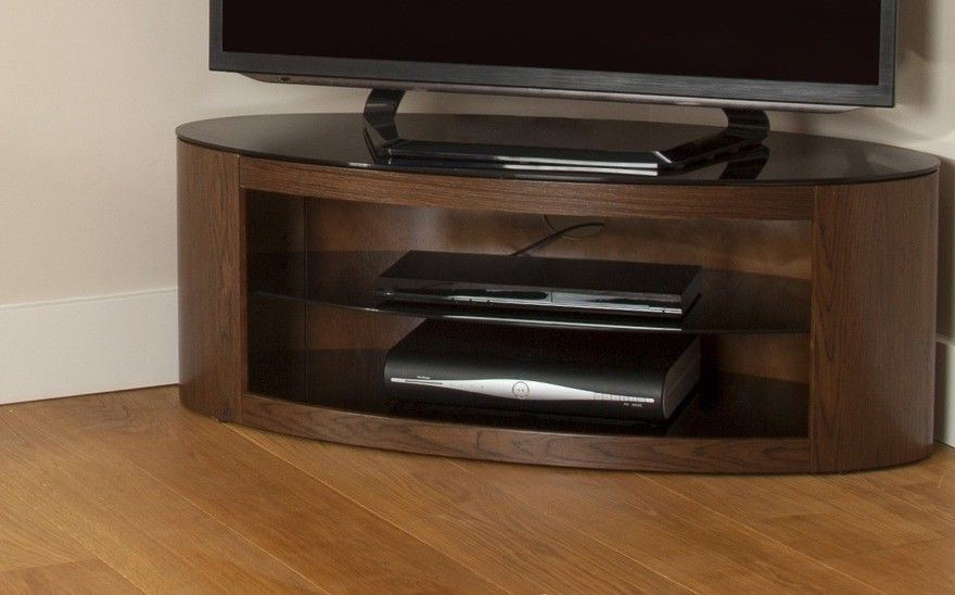 Fashionable Avf Buckingham Oval Tv Stand Rounded Round Wood & Glass Affinity Led Throughout Avf Tv Stands (View 12 of 20)