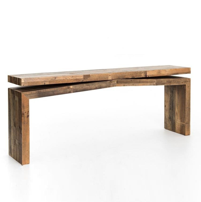 Fashionable Balboa Carved Console Tables With Angora Reclaimed Wood Console Sofa Table (View 14 of 20)