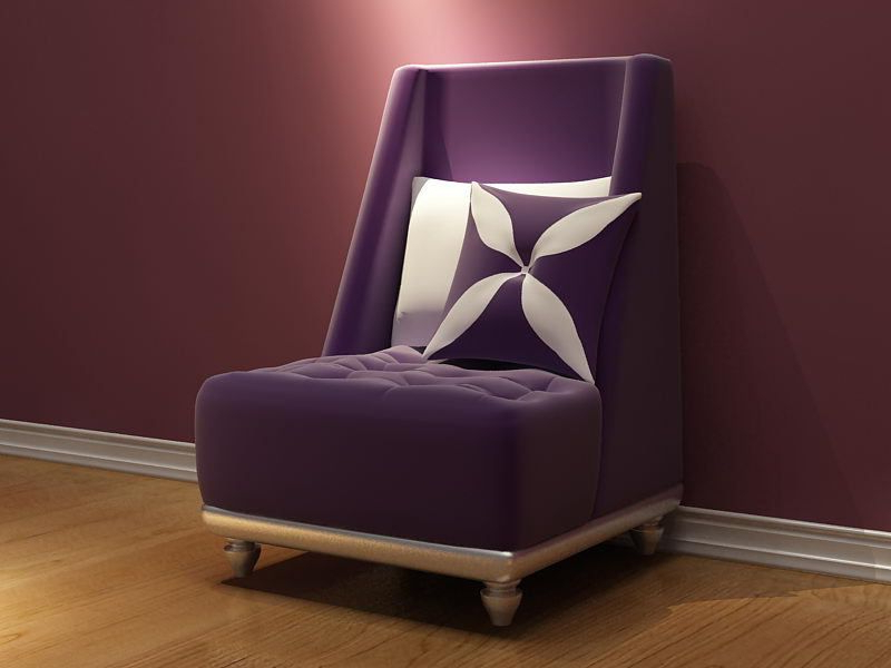 Fashionable Bedroom Sofa Chairs Inside Modern Purple Color Wedding Chairs For Bride And Groom Sofa Chair (View 11 of 20)