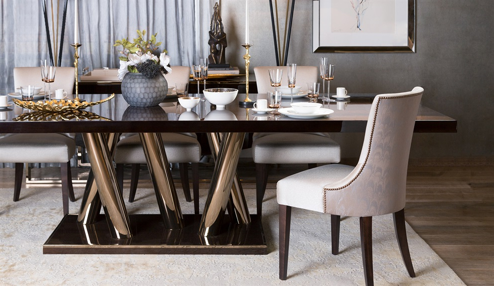 Fashionable Dining Table With Sofa Chairs Regarding Luxury Dining Tables (View 9 of 20)