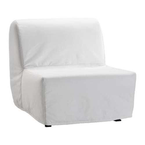 Fashionable Ikea Sofa Chairs For Lycksele Lövås Chair Bed Ransta White – Ikea (View 3 of 20)