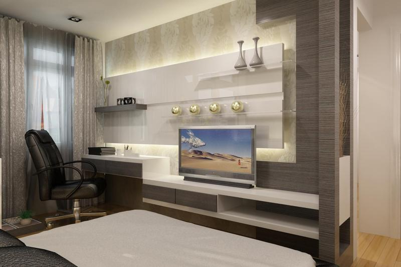 Fashionable Led Tv Panels Designs For Living Room And Bedrooms Throughout Bedroom Tv Shelves (View 11 of 20)
