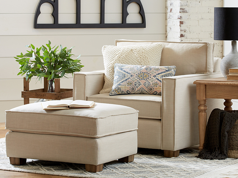 Fashionable Magnolia Home With Magnolia Home Ravel Linen Sofa Chairs (View 3 of 20)