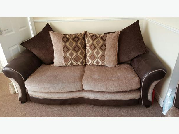 Favorite 3 Seater Sofa And Cuddle Chairs Inside Dfs 3 Seater Sofa & Massive Cuddle Swivel Chair Dudley (View 10 of 20)