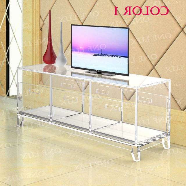 Favorite Acrylic Tv Stands With Acrylic Tv Stand Table,luite Cabinet With Removable Trays,perspex (View 4 of 20)