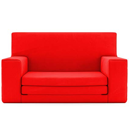 Favorite Amazon: 2 In 1 Childrens Sofa Bed In Flaming Red With Memory Pertaining To Childrens Sofa Bed Chairs (View 13 of 20)