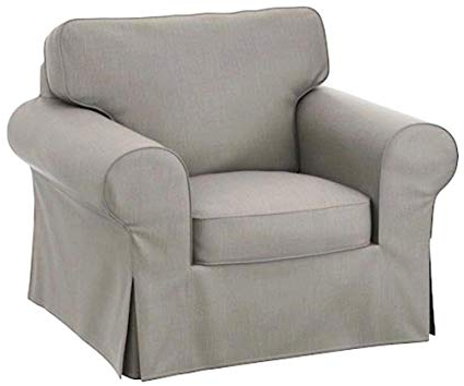 Favorite Amazon: The Dense Cotton Ektorp Chair Cover Replacement Is Inside Sofa And Chair Slipcovers (View 14 of 20)